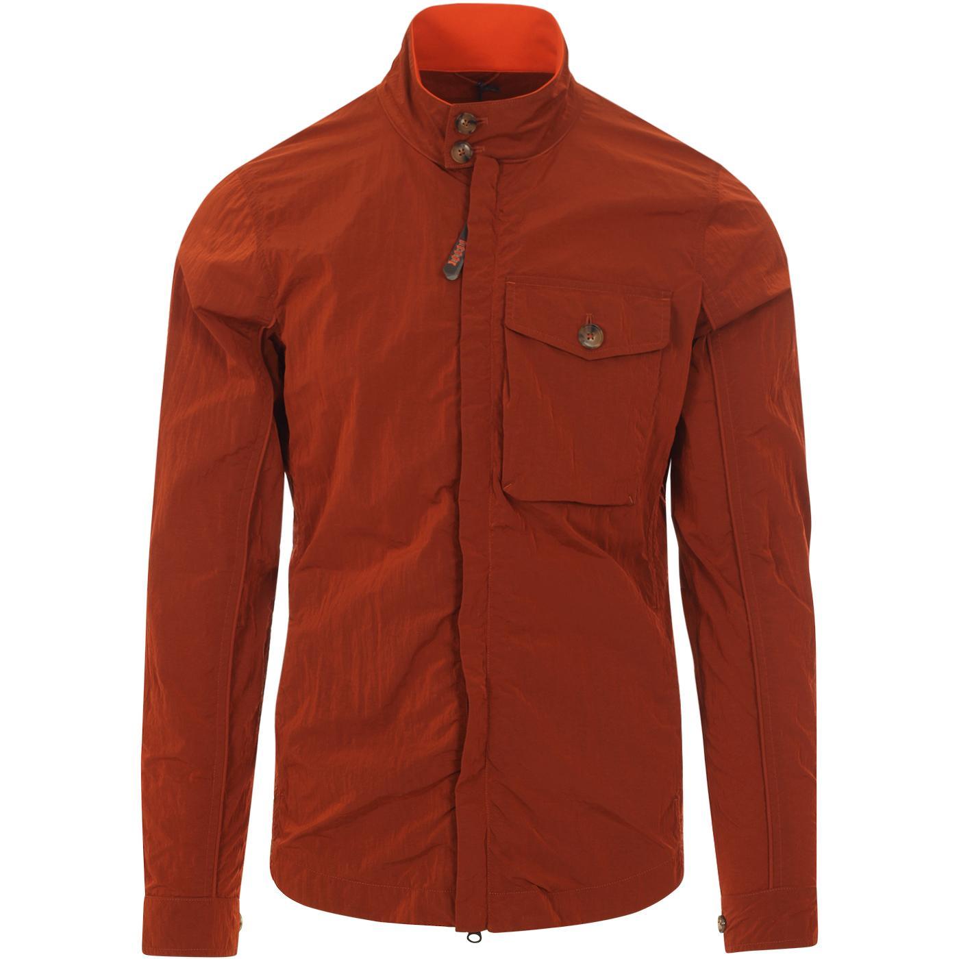 BARACUTA Nylon Garment Dye Harrington Overshirt P