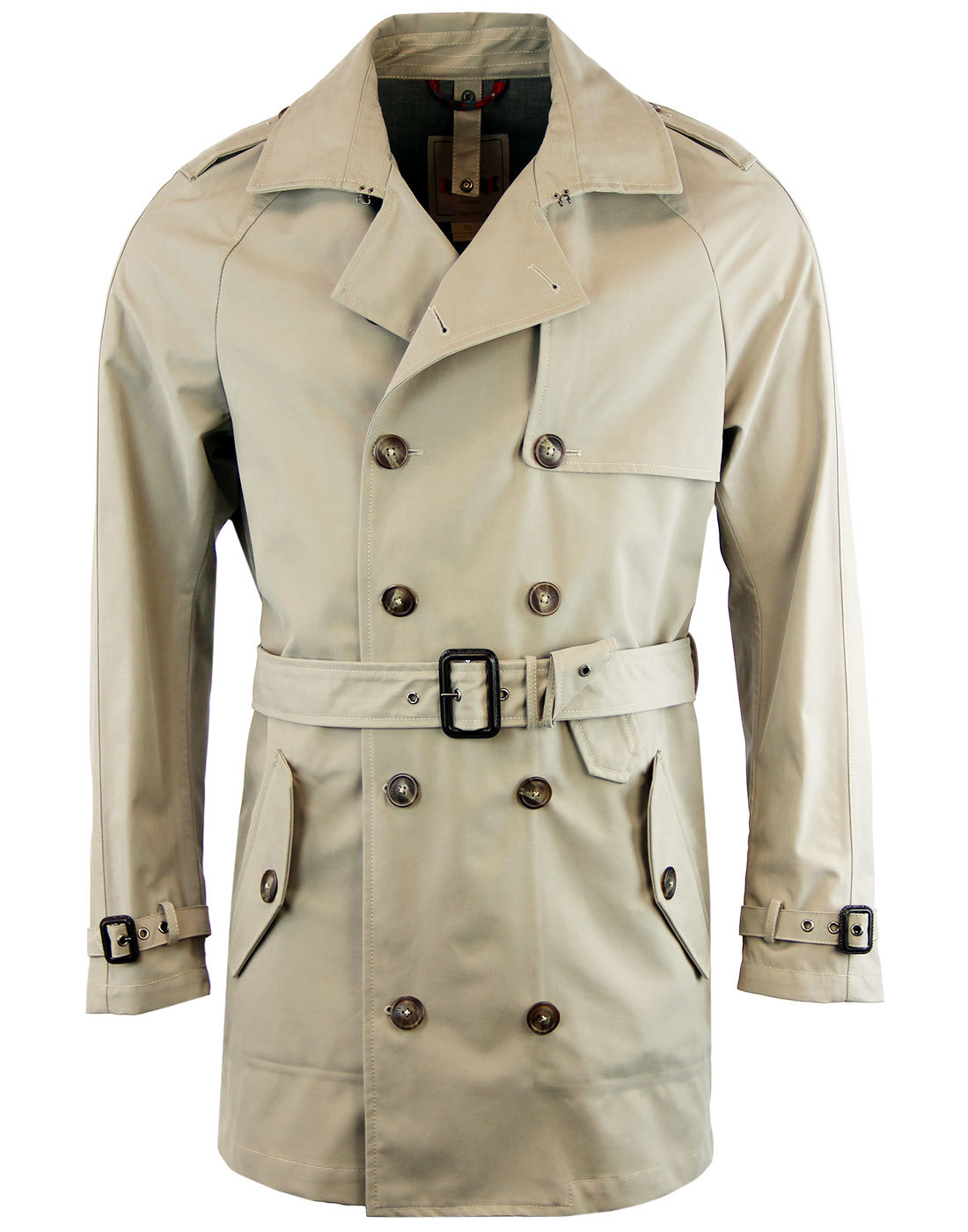 BARACUTA Brushed Twill Belted 3 Layer Trench Coat