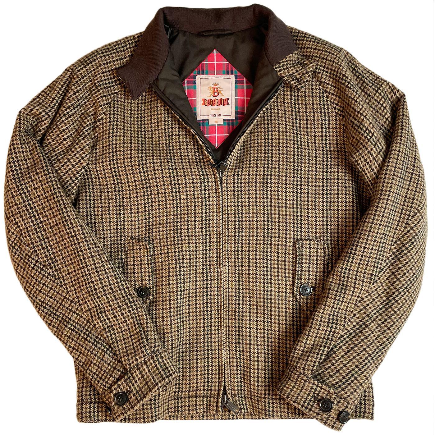 BARACUTA G4 Wool Abraham Moon Houndstooth Jacket
