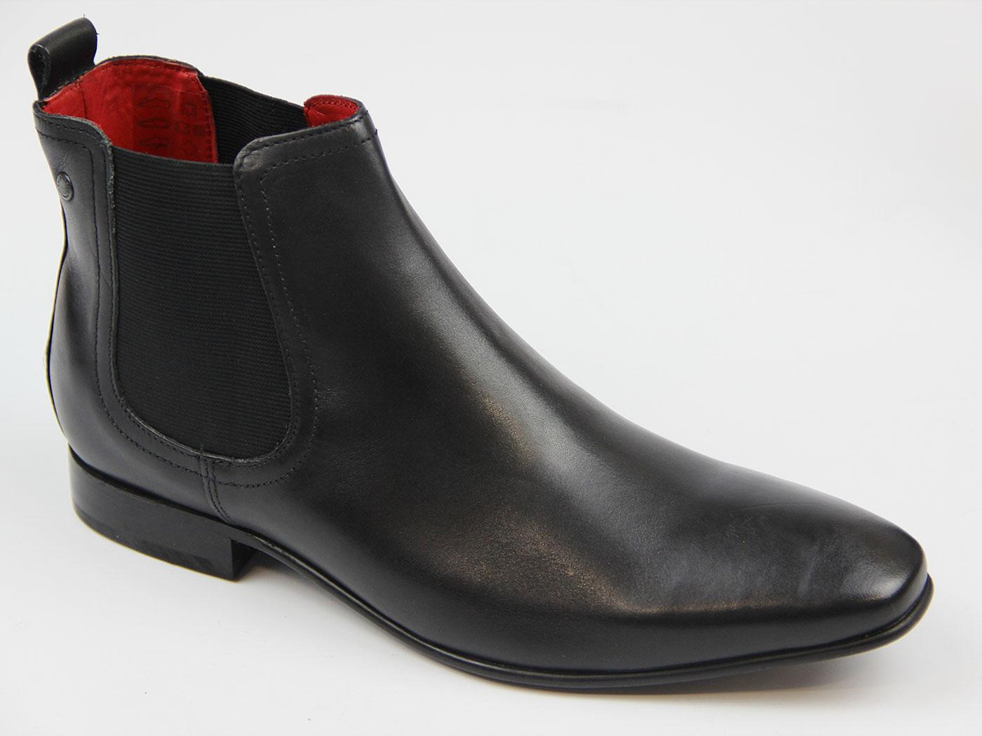 Thread BASE LONDON Mod Waxy Leather Chelsea Boots