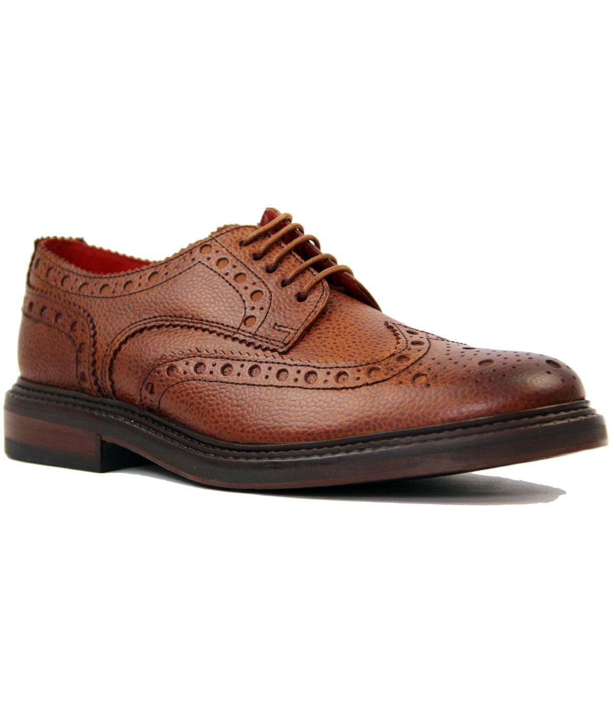 Faraday BASE LONDON Scotch Grain Leather Brogues