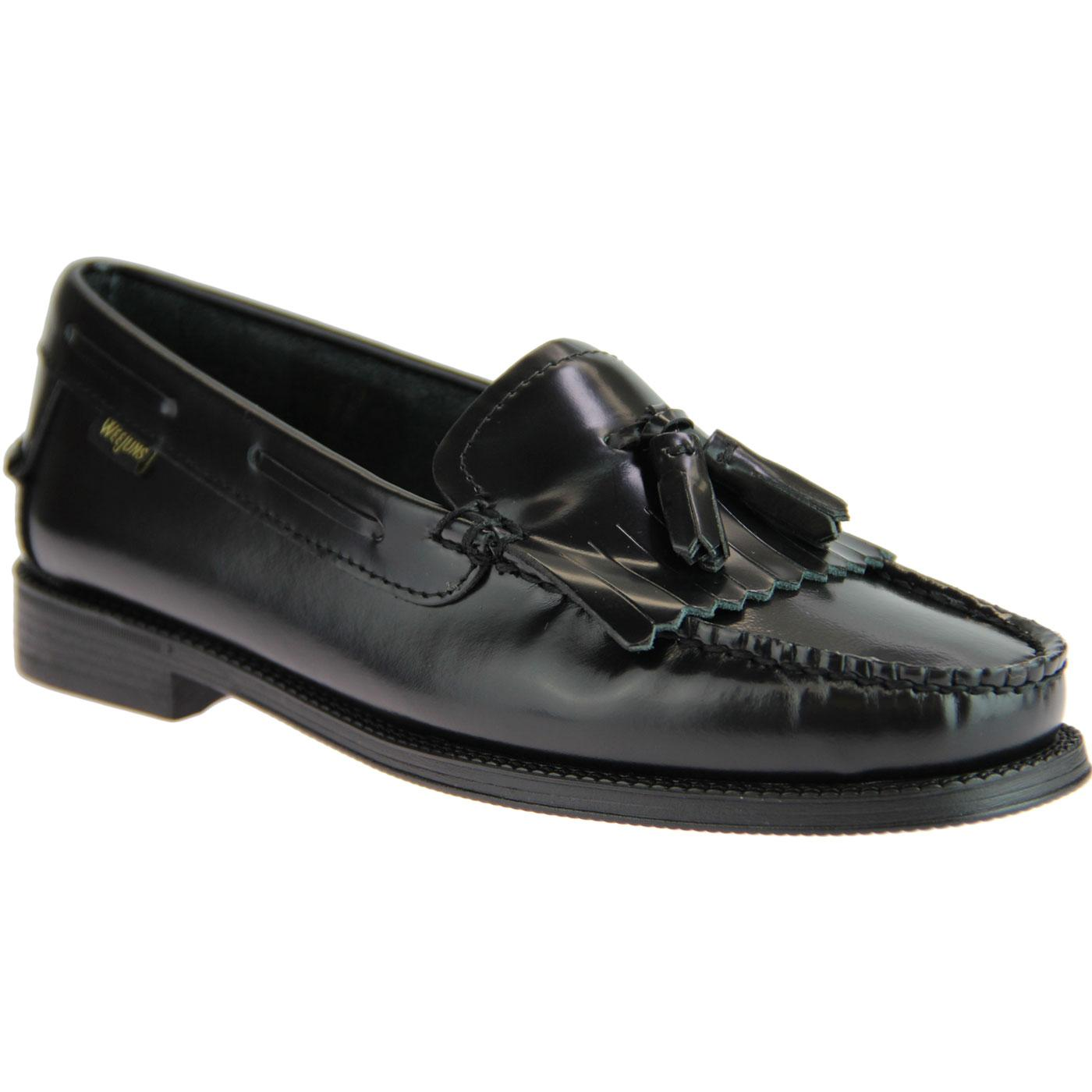 Esther Kiltie BASS WEEJUNS Womens Loafers (Black)