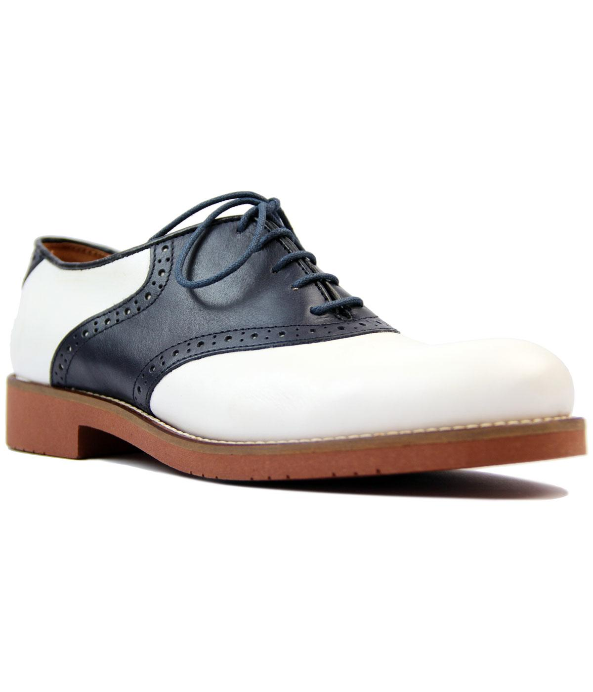 Albany BASS WEEJUNS Retro 60s 2 Tone Saddle Shoes