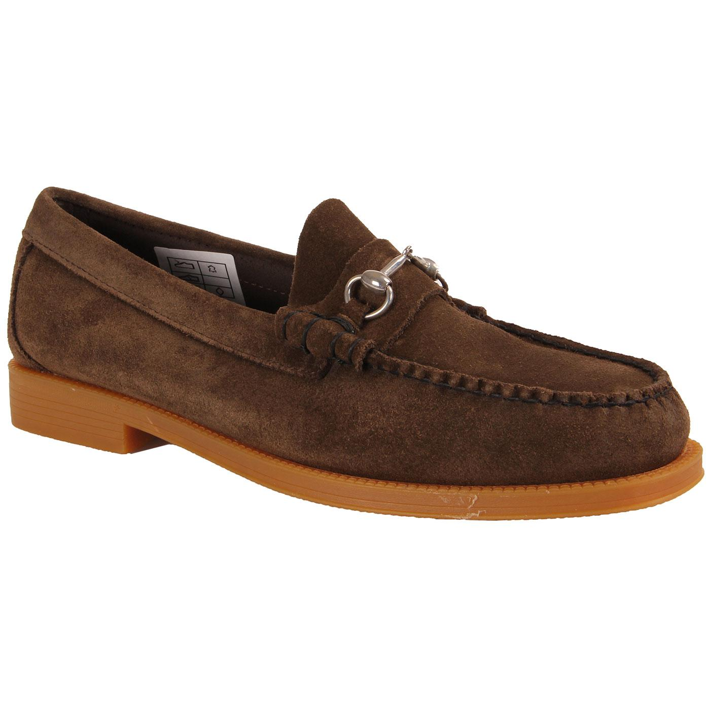 Lincoln Easy Weejun BASS WEEJUNS Suede Loafers DB