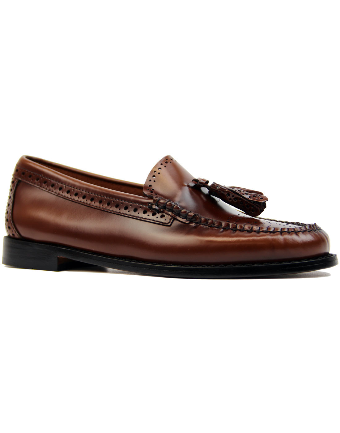 Estelle BASS WEEJUNS Retro Mod Brogue Loafers (C)