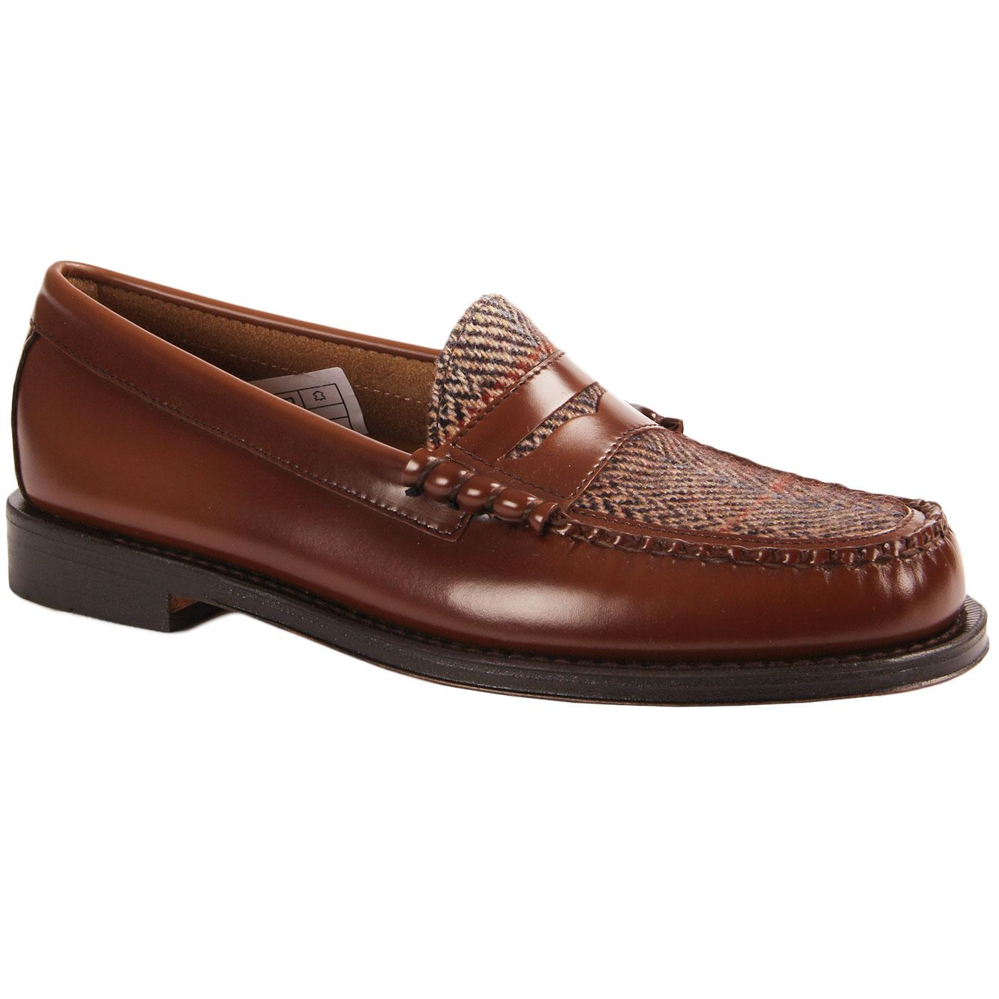 Larson BASS WEEJUNS Mod Tweed Penny Loafers MB