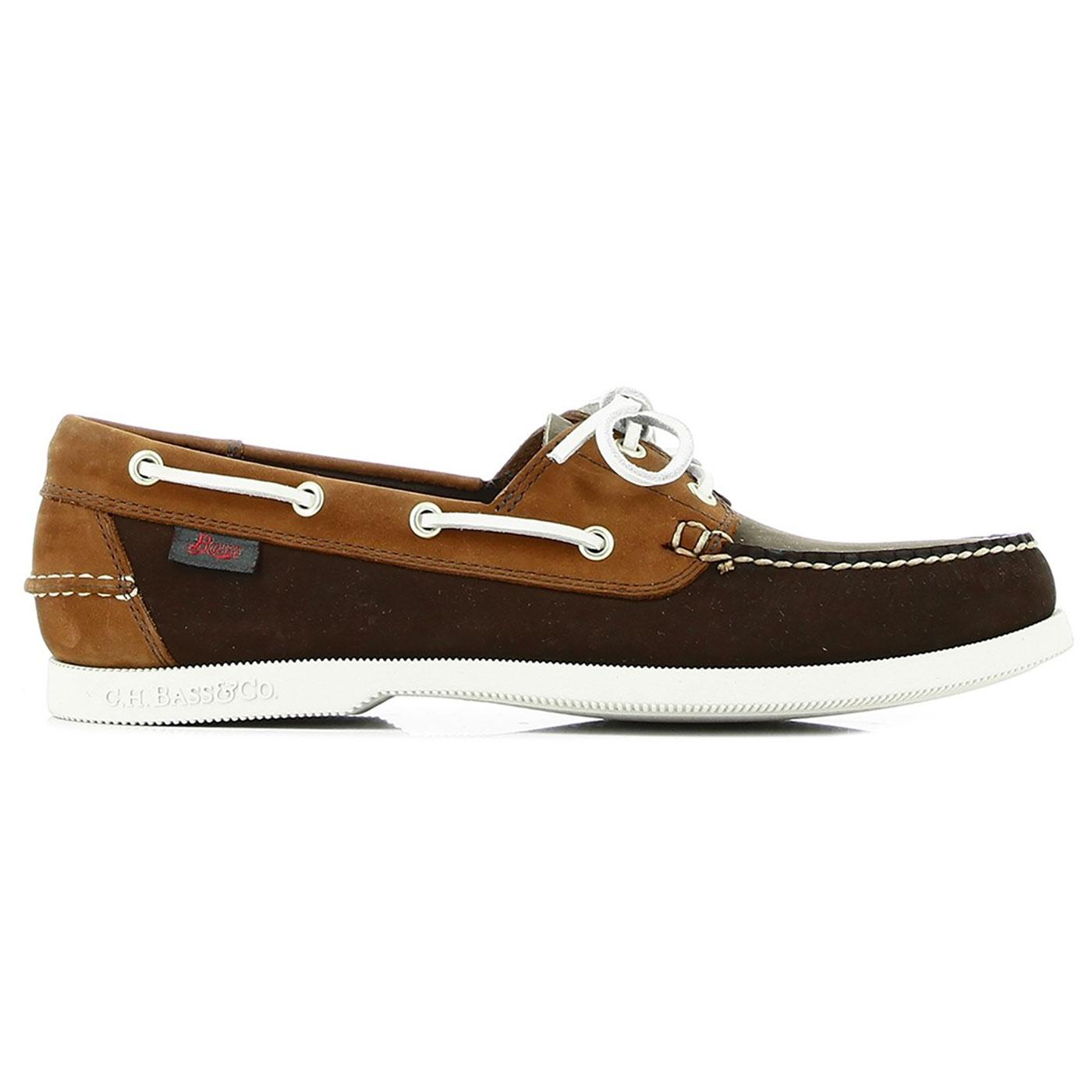 Jetty II BASS WEEJUNS Mod Boat Shoes (Mid Brown)