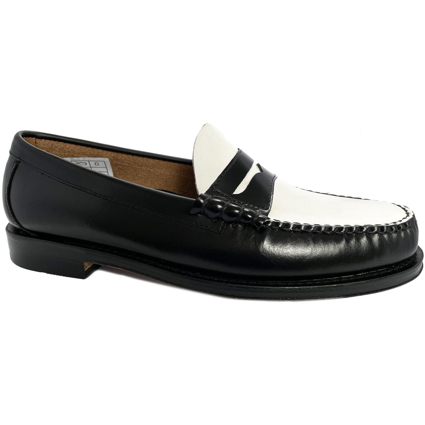 Larson BASS WEEJUNS Two Tone Mod Penny Loafers