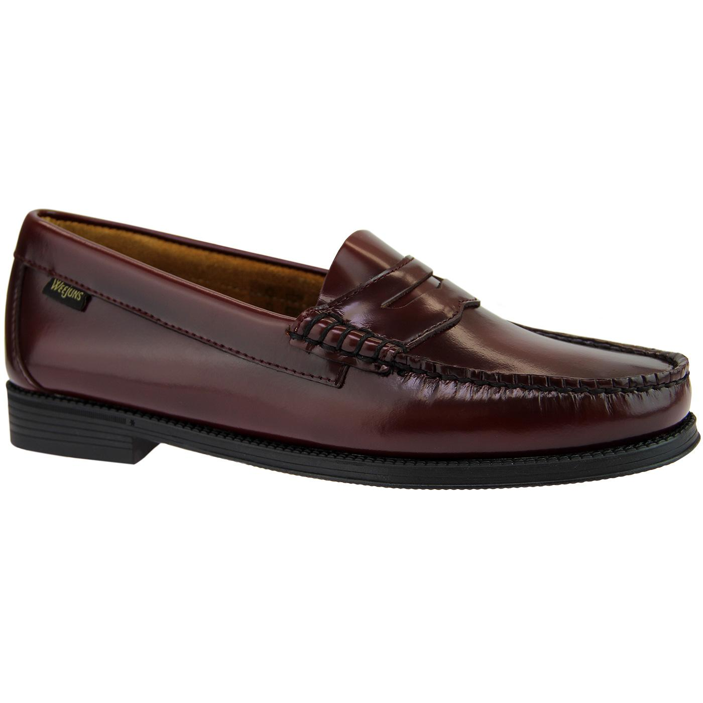 BASS WEEJUNS Women's 60's Penny Loafers WINE