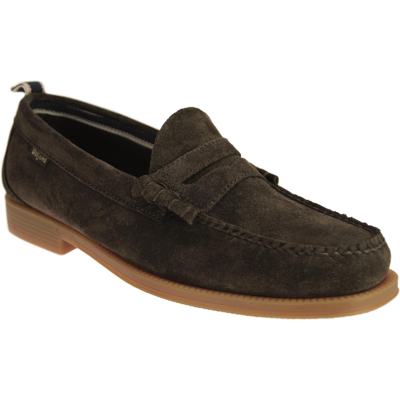 Larson Suede BASS WEEJUNS 60s Beef Roll Loafers DB