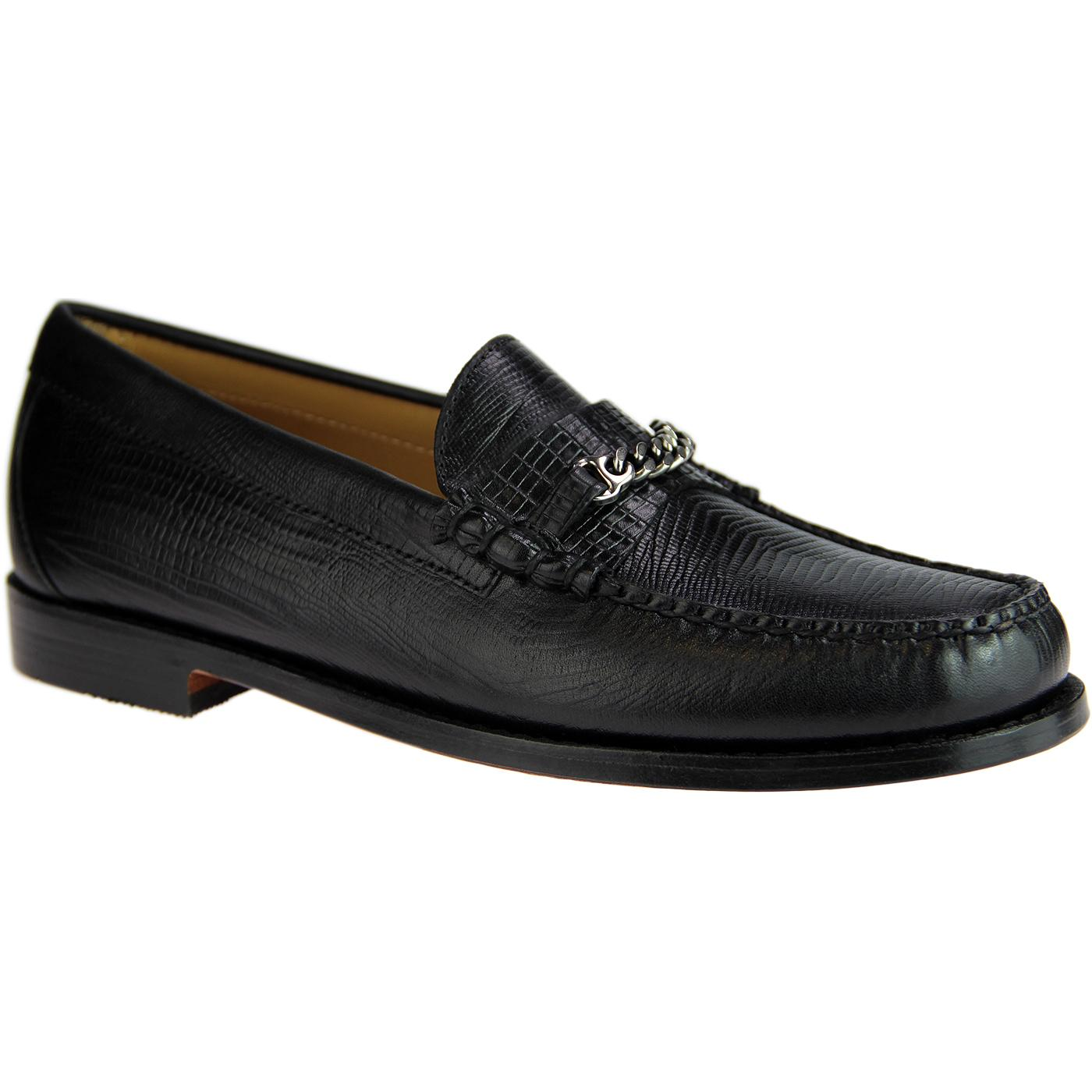 Lincoln Lizard BASS WEEJUNS Mod Snaffle Loafers B