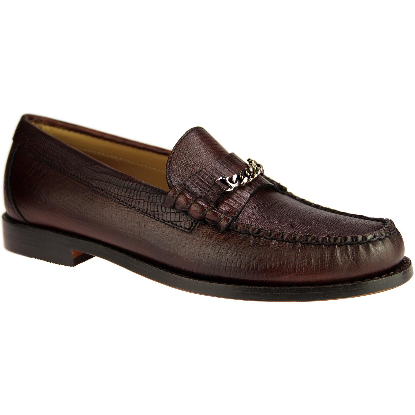 Lincoln Lizard BASS WEEJUNS Mod Snaffle Loafers C