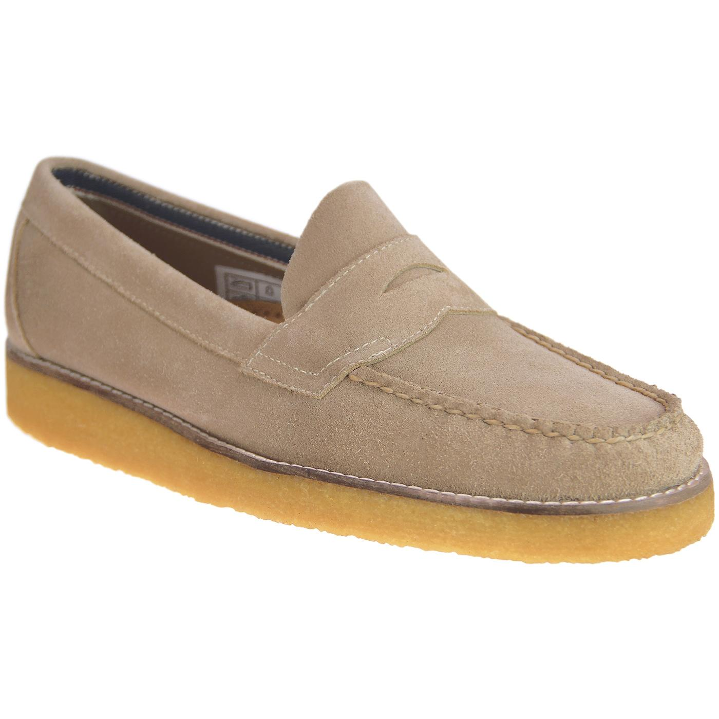 Logan Suede BASS WEEJUN Mod Crepe Penny loafers
