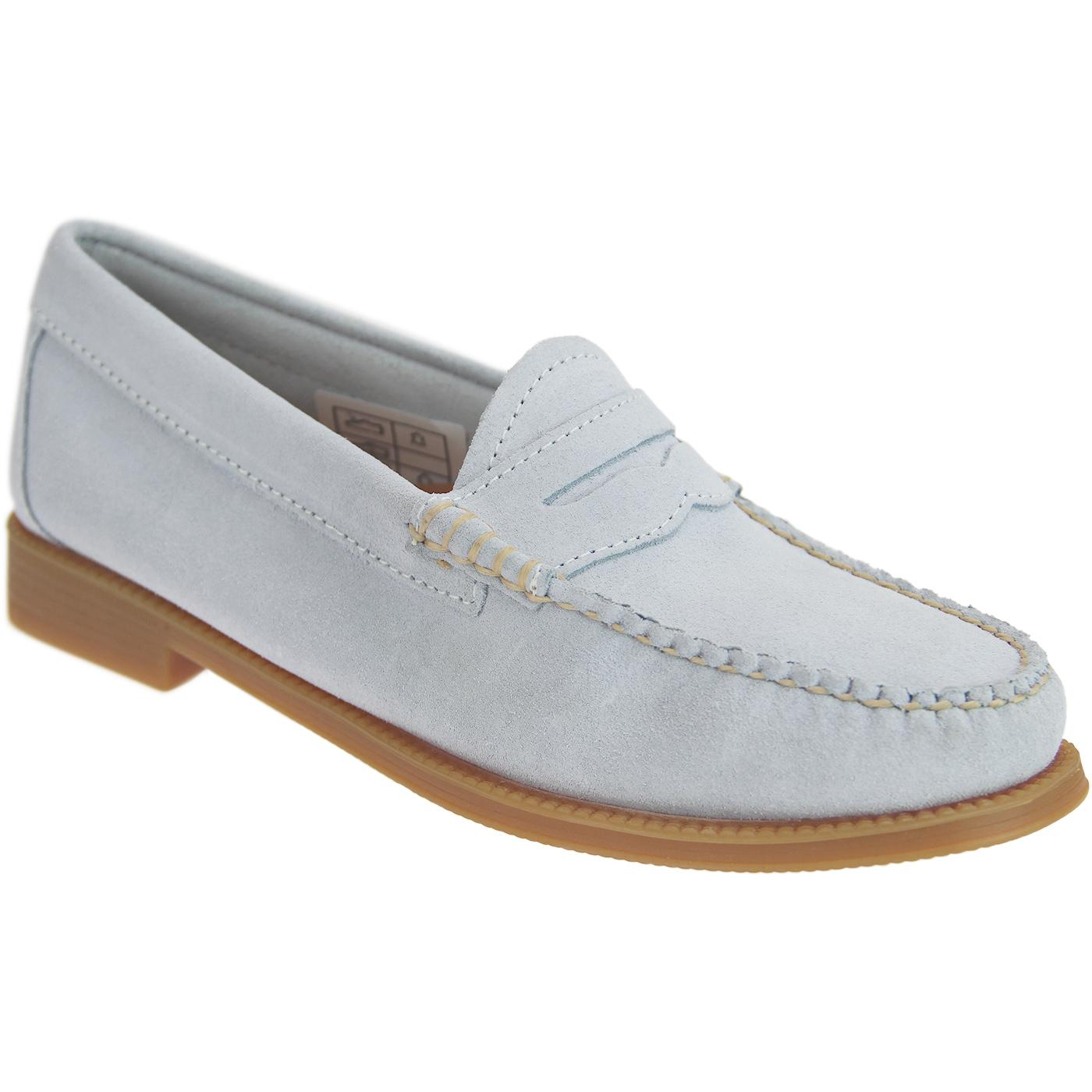 BASS WEEJUNS Women's Retro Suede Penny loafers LB