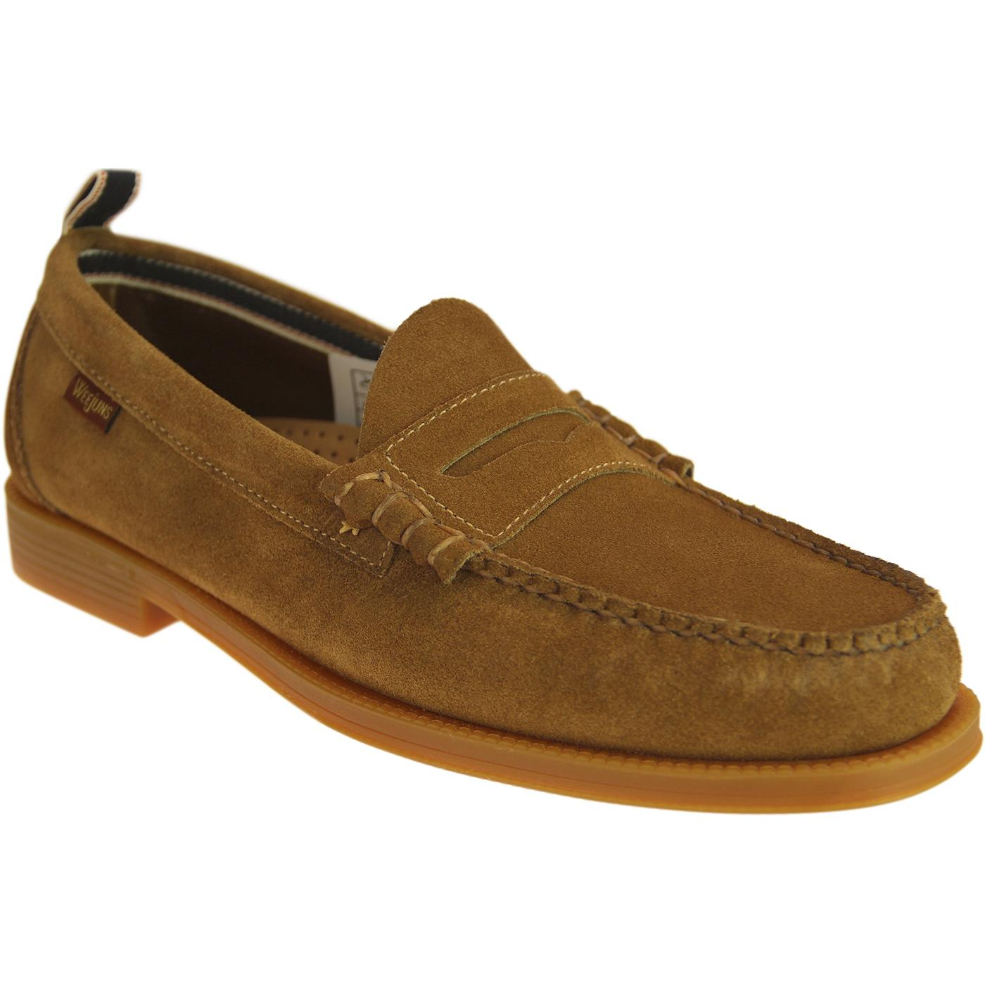 Larson Suede BASS WEEJUNS Retro Beef Roll Loafers