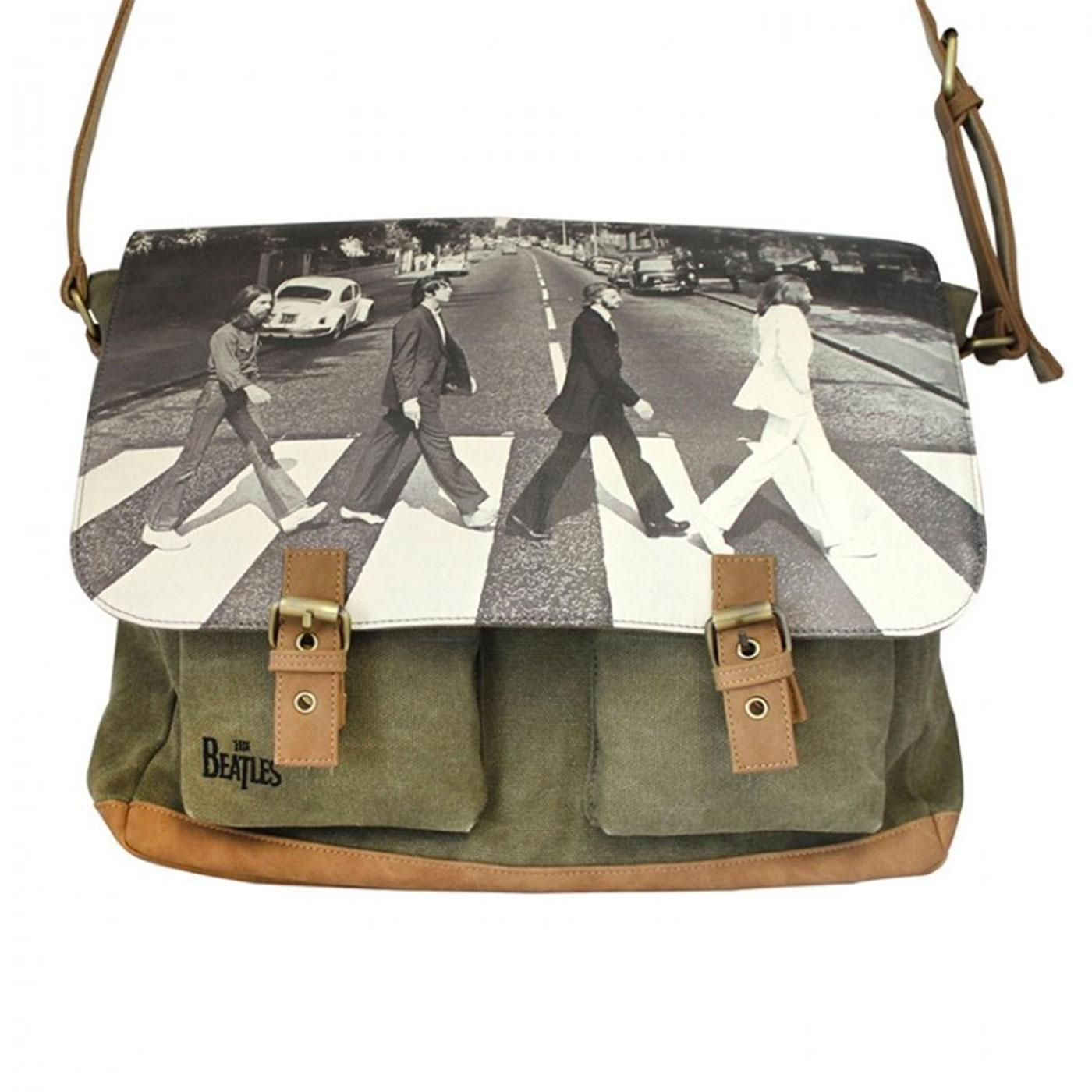Abbey Road DISASTER DESIGNS Beatles Satchel Green