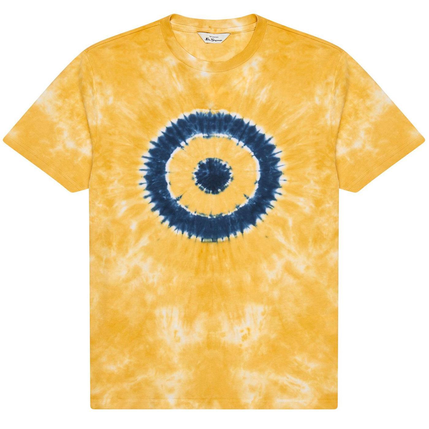 BEN SHERMAN Retro Tie Dye Mod Target Tee (Yellow)