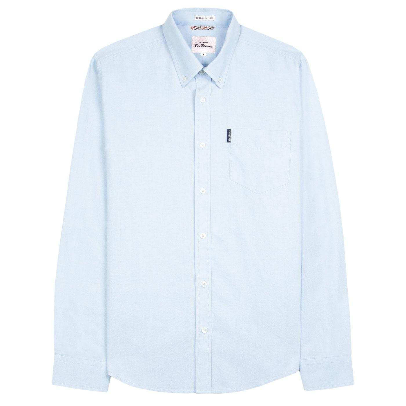 BEN SHERMAN Signature Mod Oxford Shirt in Sky Blue