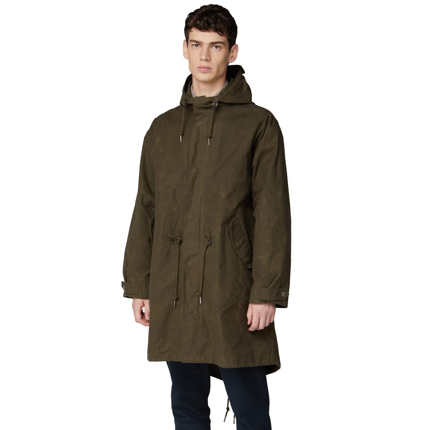 BEN SHERMAN Proofed Archive Fishtail Parka Jacket