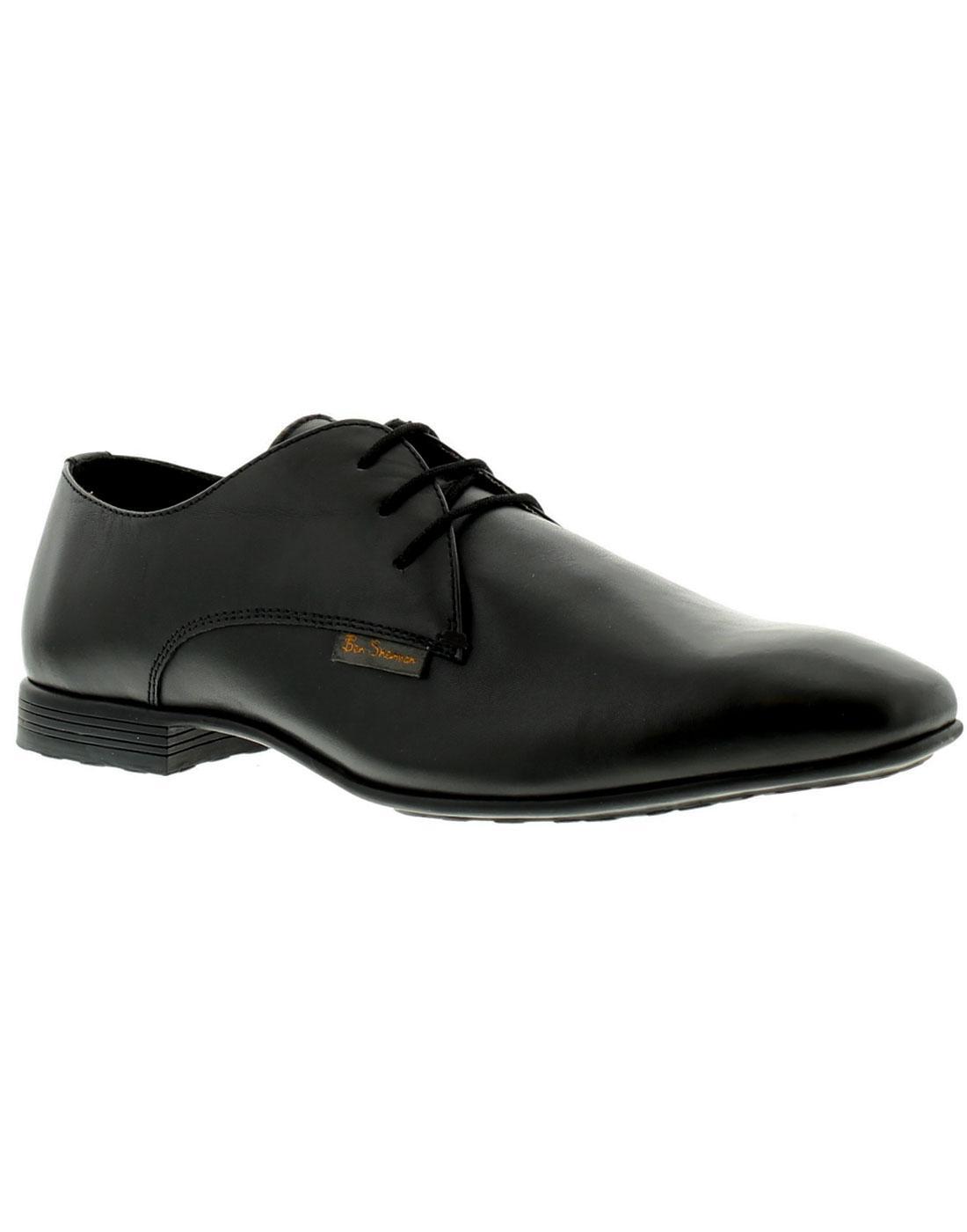 ben sherman black leather shoes