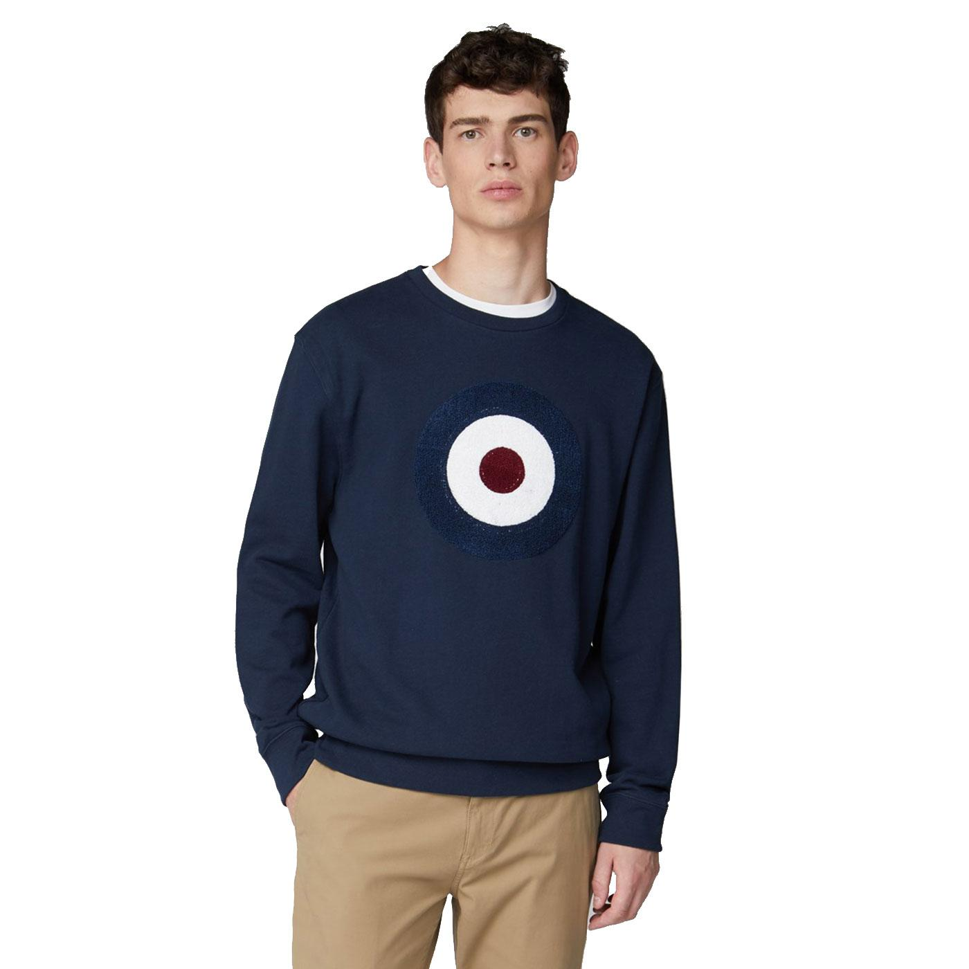 BEN SHERMAN Applique Mod Target Logo Sweater DB