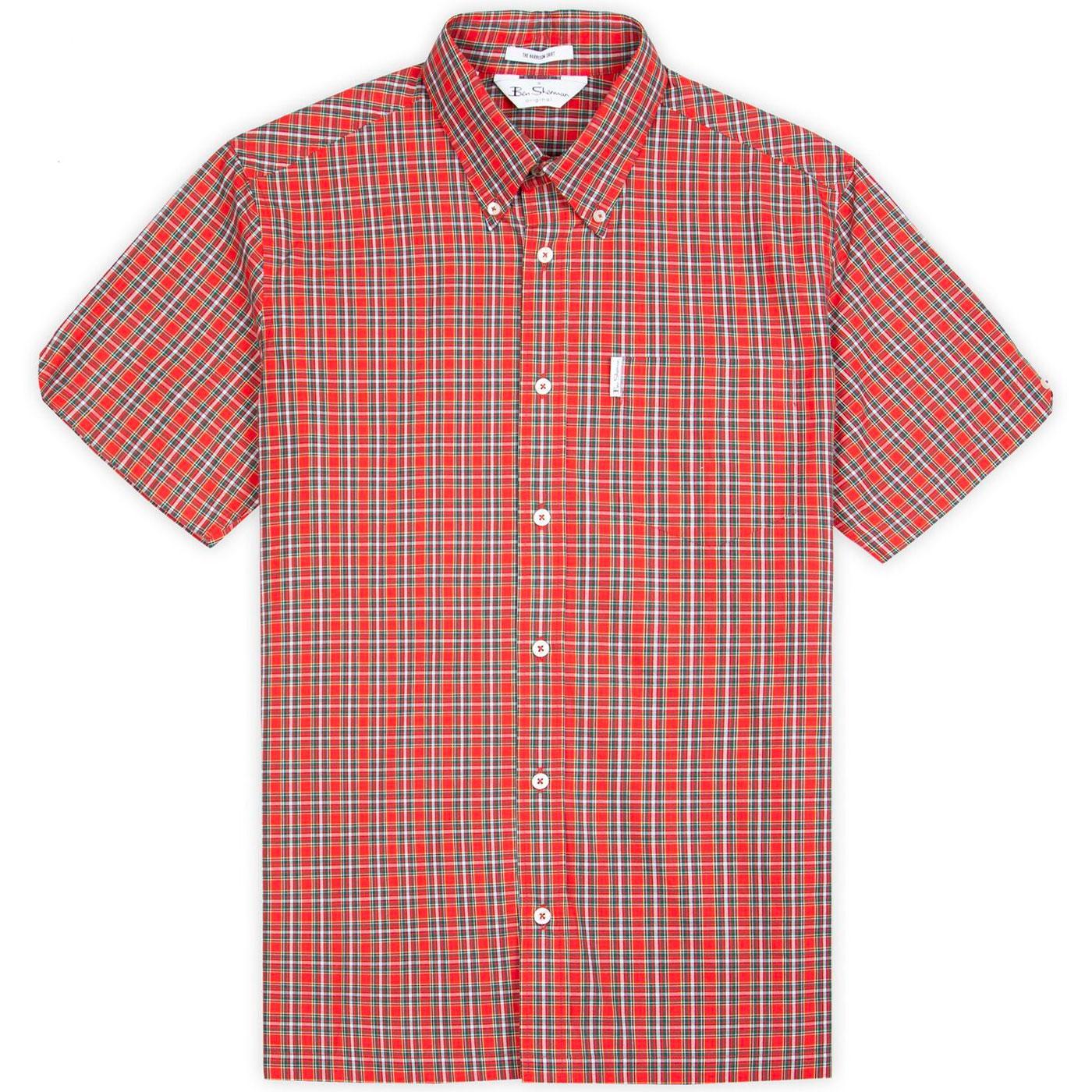 BEN SHERMAN Harrison 80s Archive Check Mod Shirt R