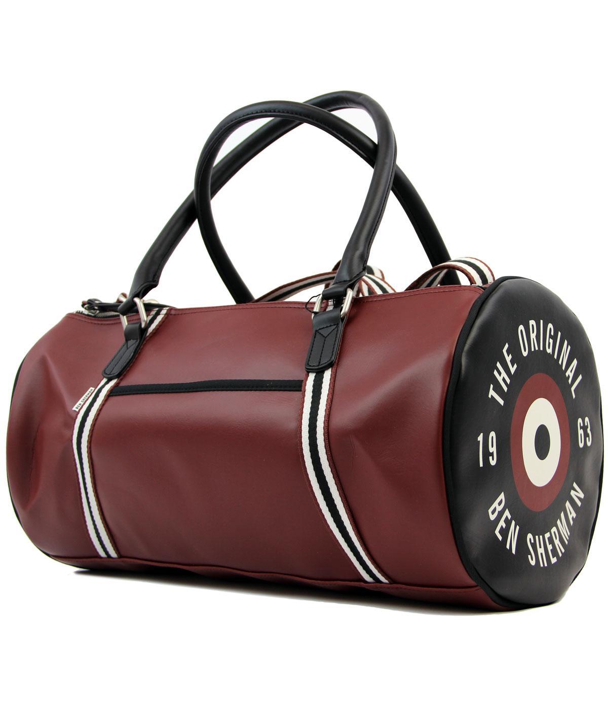 BEN SHERMAN Retro Mod 60s Classic Barrel Bag