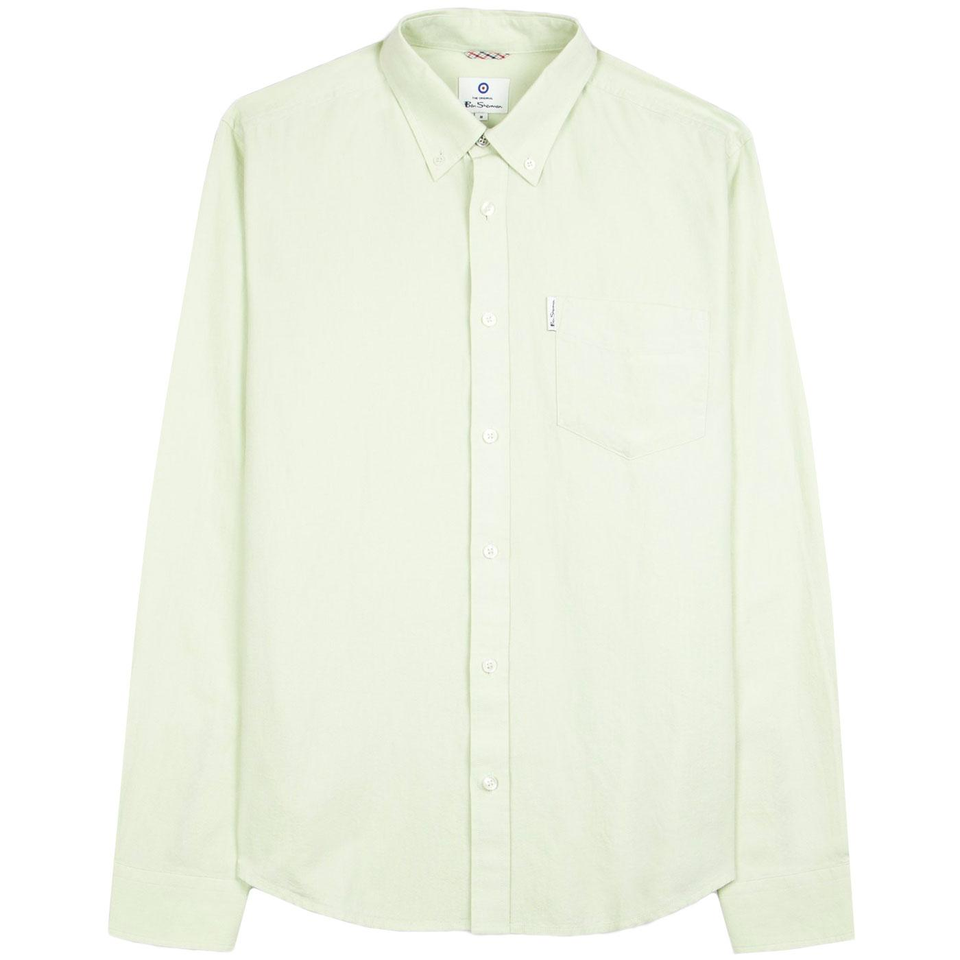 BEN SHERMAN 60s Mod LS Signature Oxford Shirt (LG)