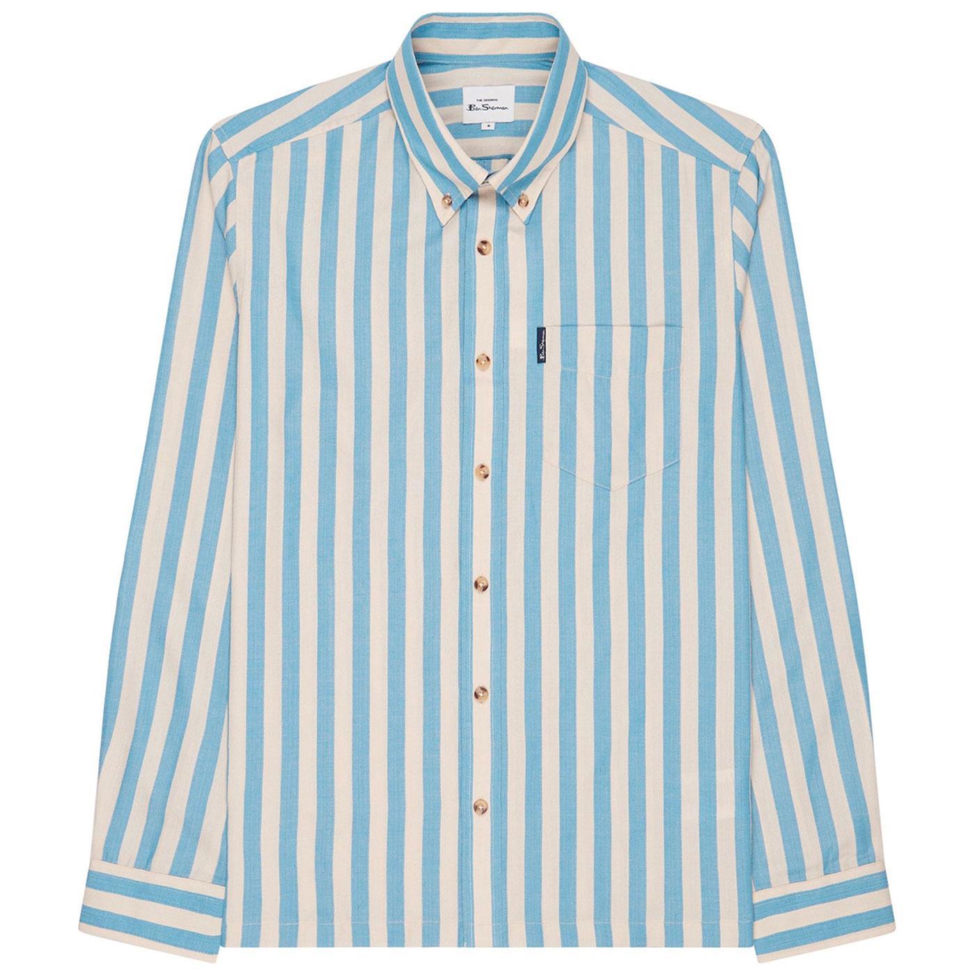 BEN SHERMAN Retro Mod 60s Candy Stripe Shirt