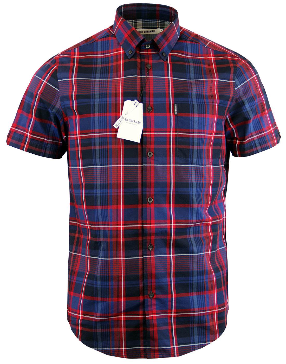Ben Sherman Retro Mod Short Sleeve Button Down Check Shirt