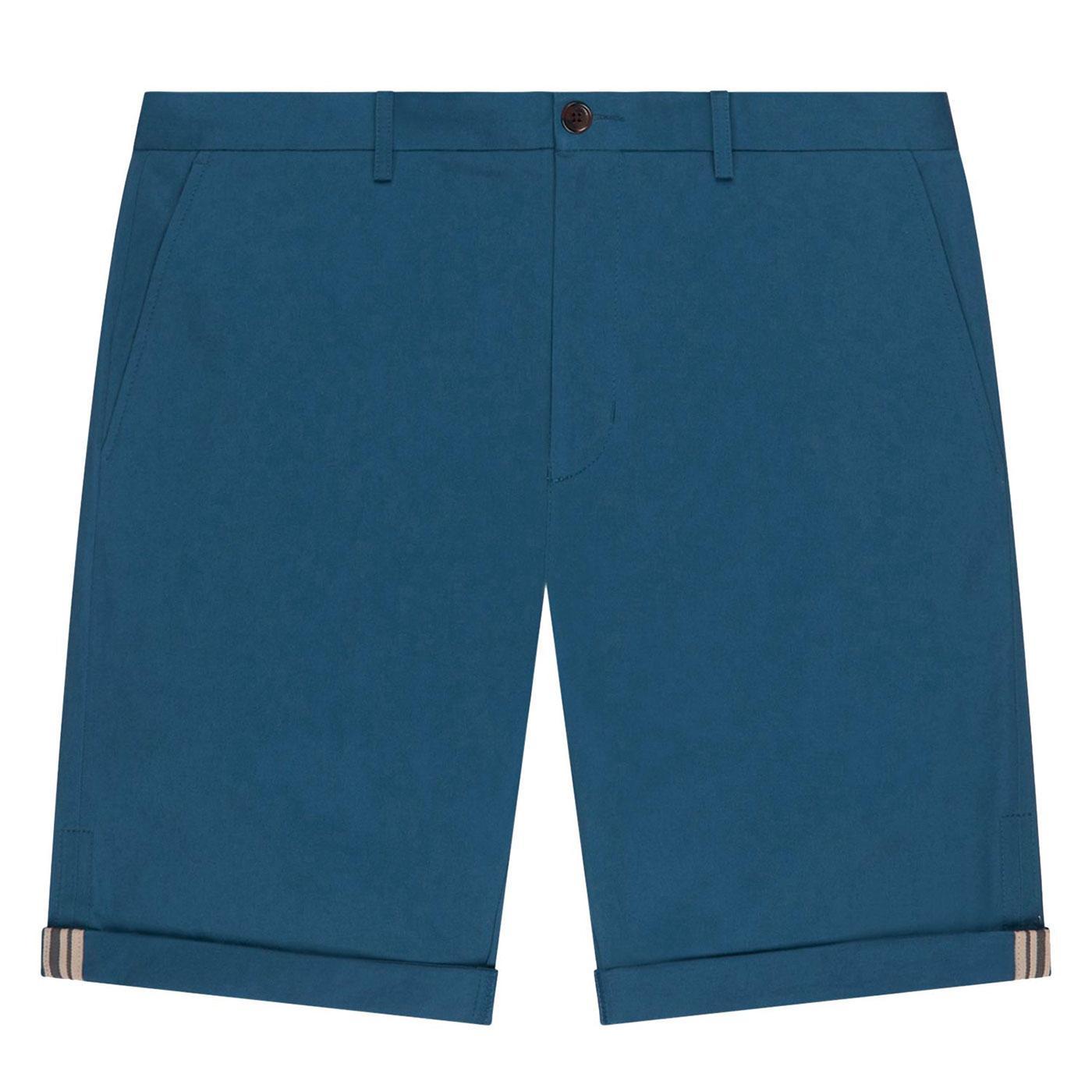 BEN SHERMAN Men's Retro Mod Chino Shorts in Indigo