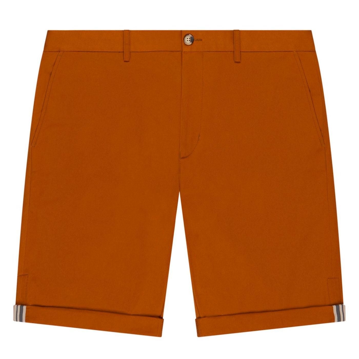 BEN SHERMAN Men's Retro Mod Chino Shorts in Tan