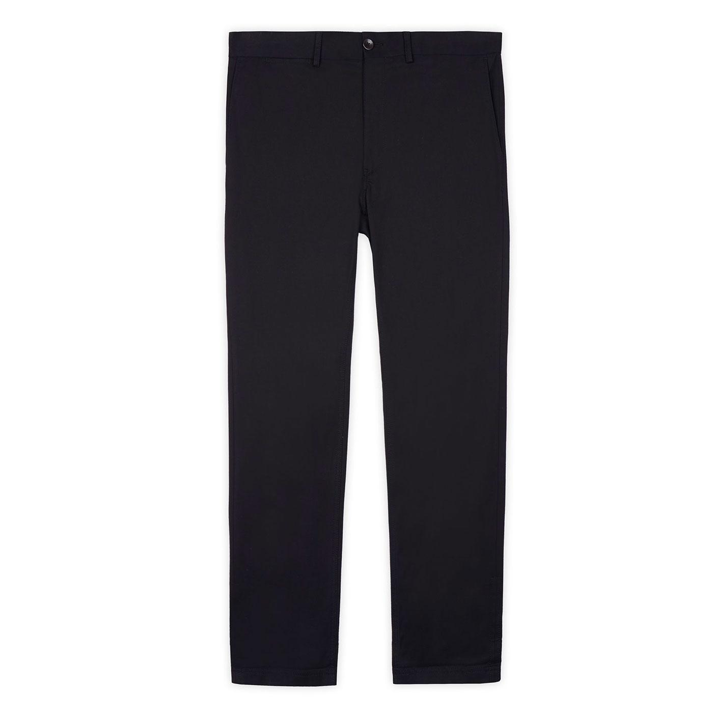 BEN SHERMAN Mens Signature Chino Trousers in Black