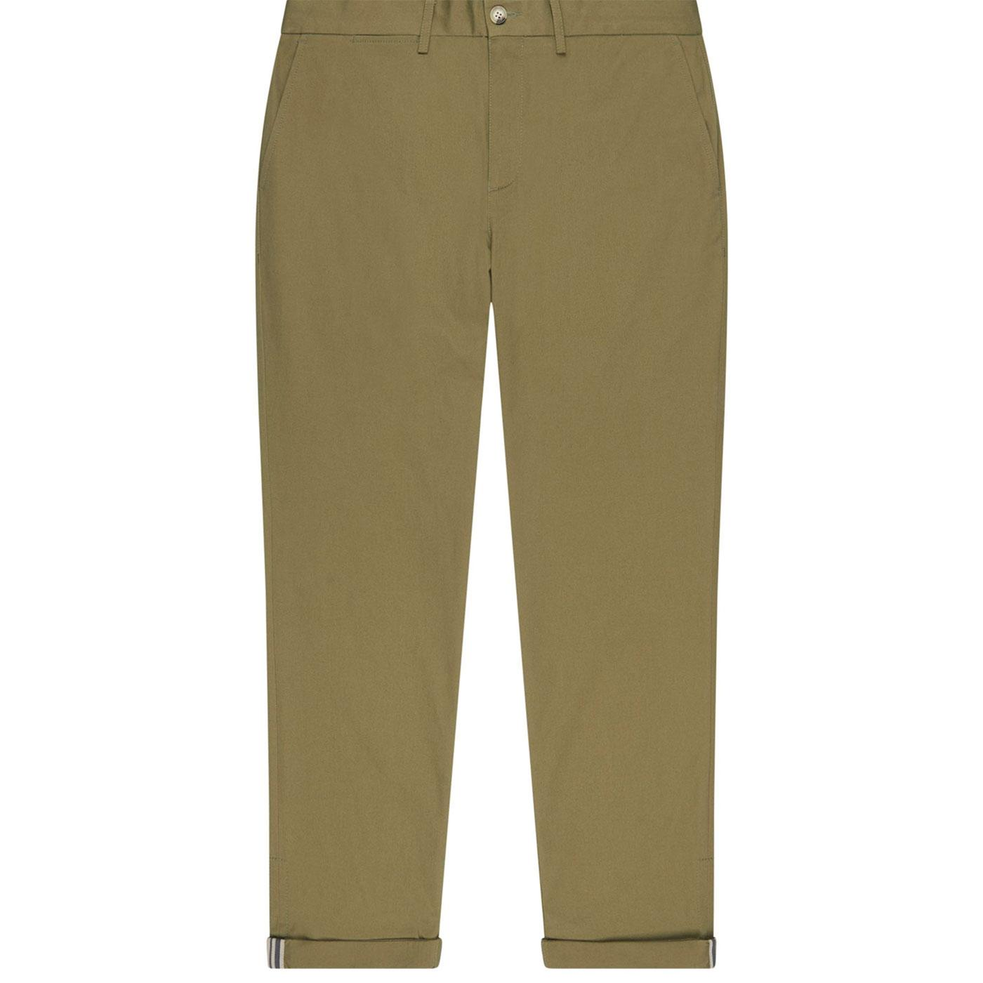 BEN SHERMAN Mens Signature Chino Trousers in Olive