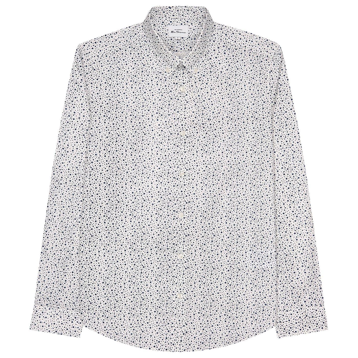 BEN SHERMAN Retro Mod Irregular Spot Print Shirt