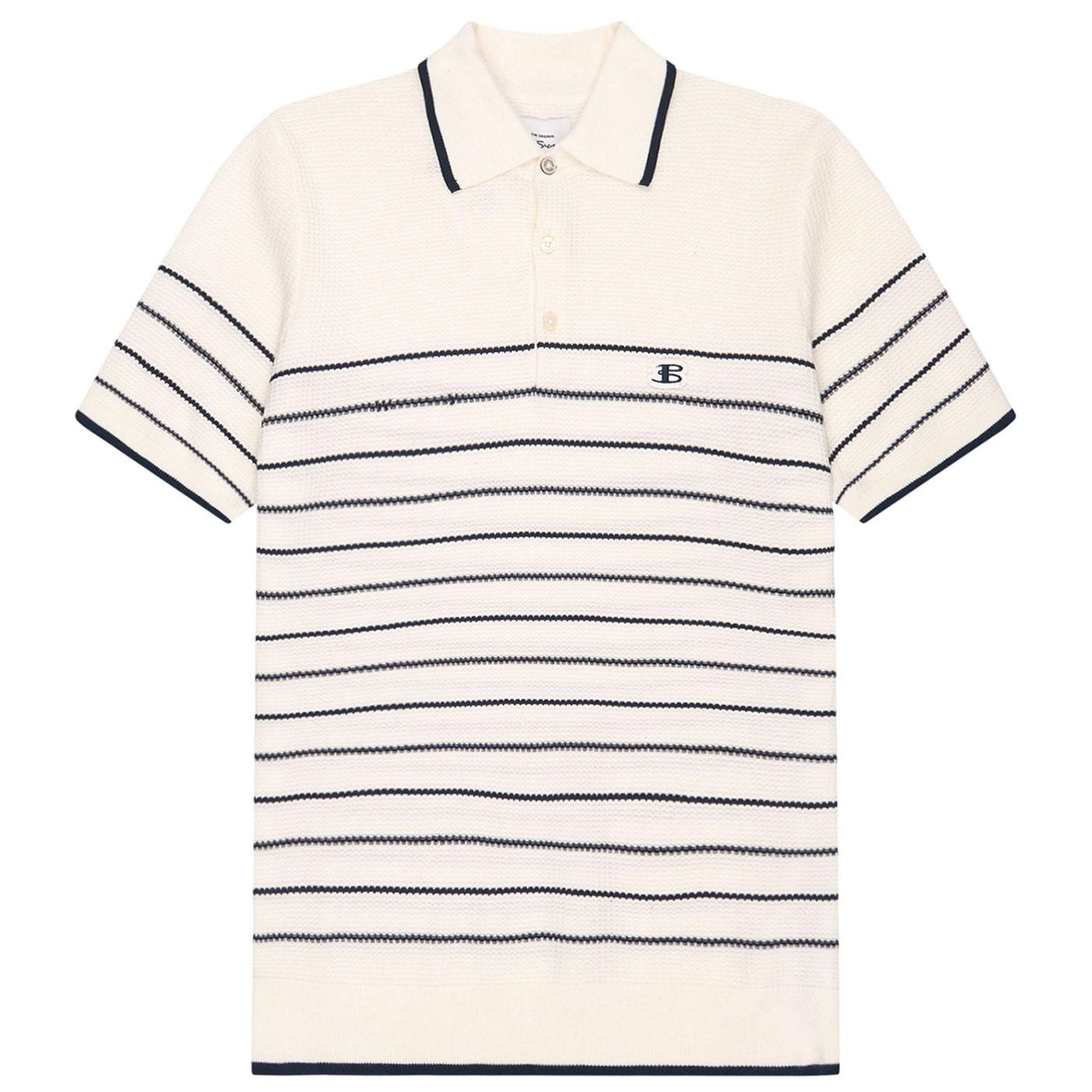 B BY BEN SHERMAN Mens Mod Breton Stripe Polo I