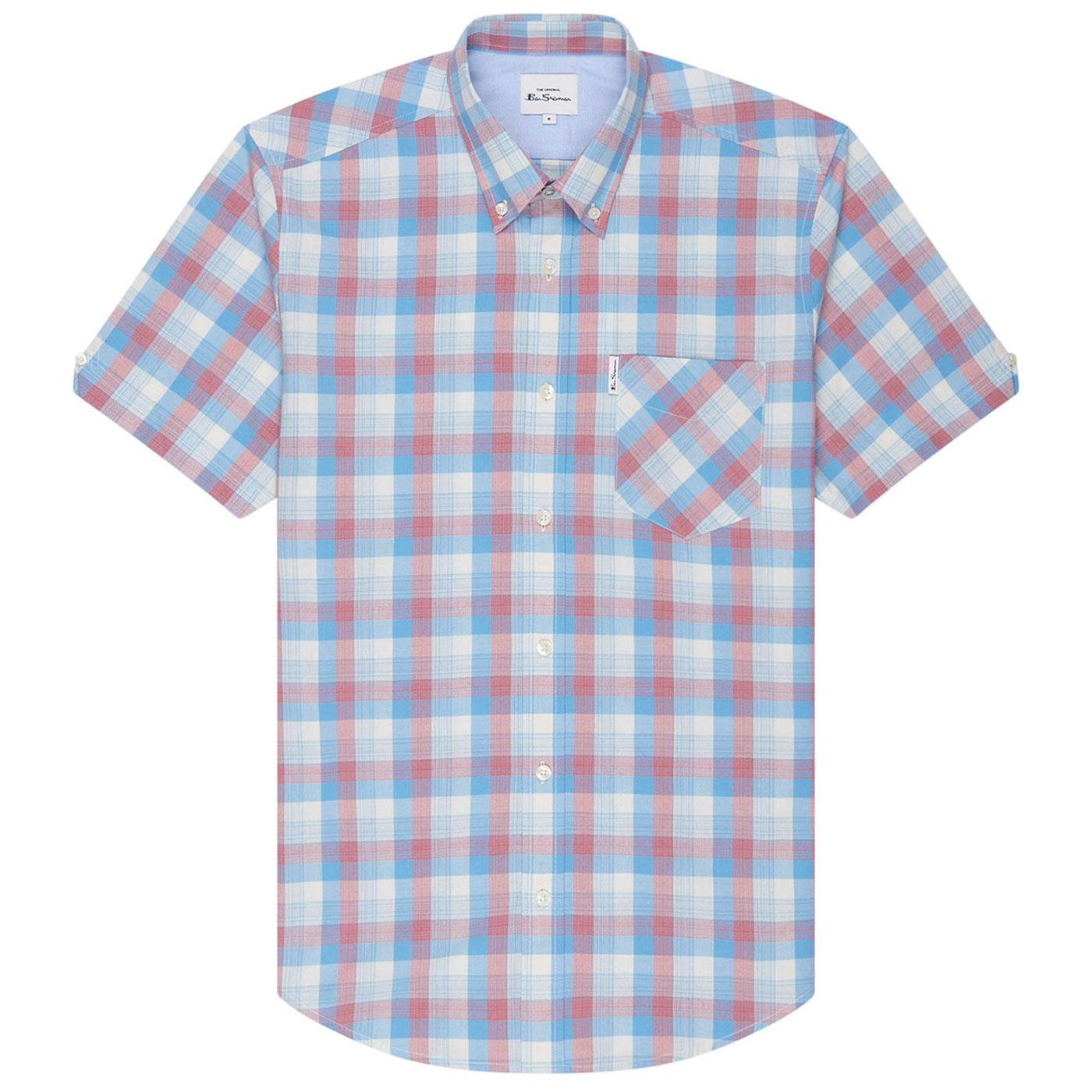 BEN SHERMAN Retro Mod 70s Gradient Check Shirt RB
