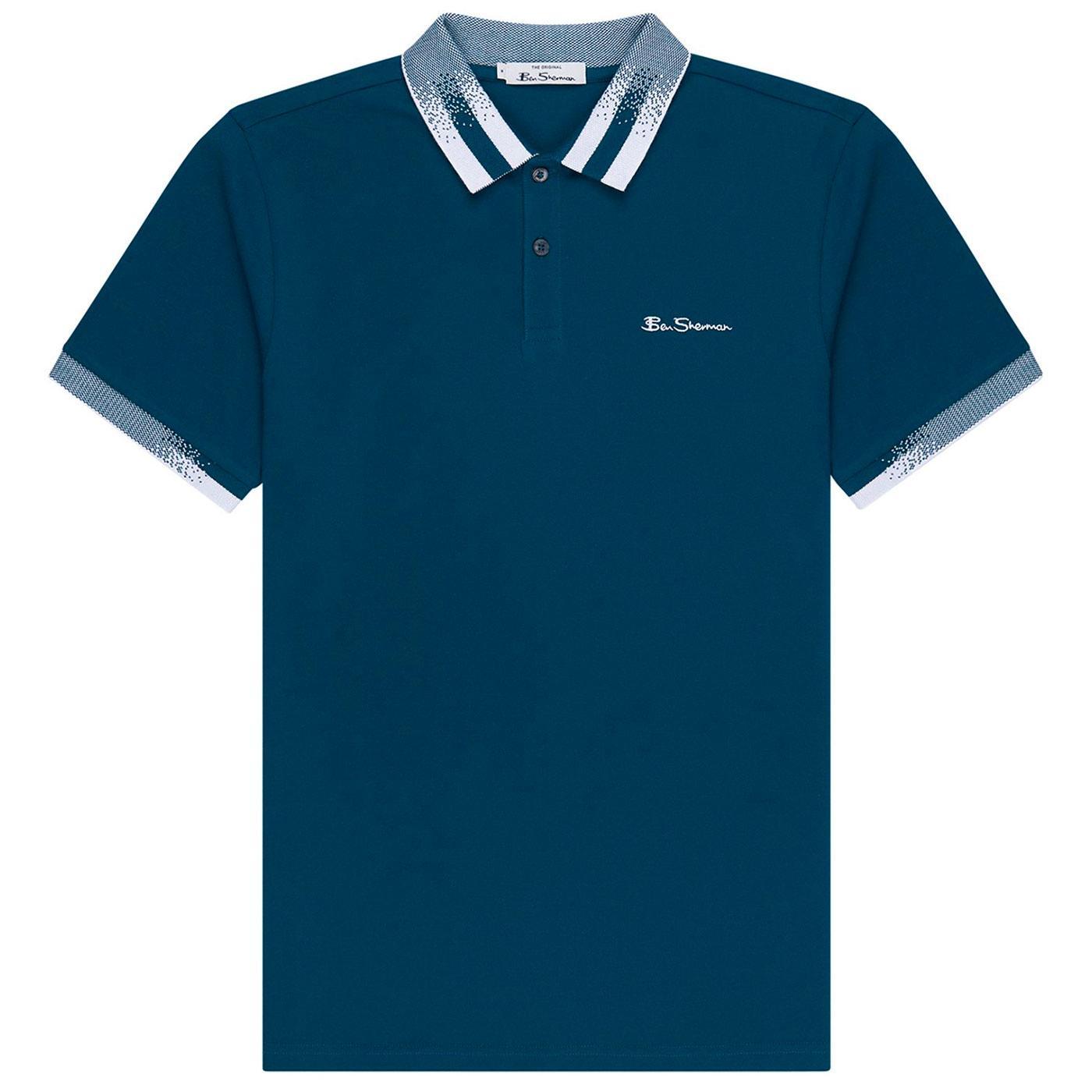 BEN SHERMAN Men's Retro 60s Halftone Collar Polo B