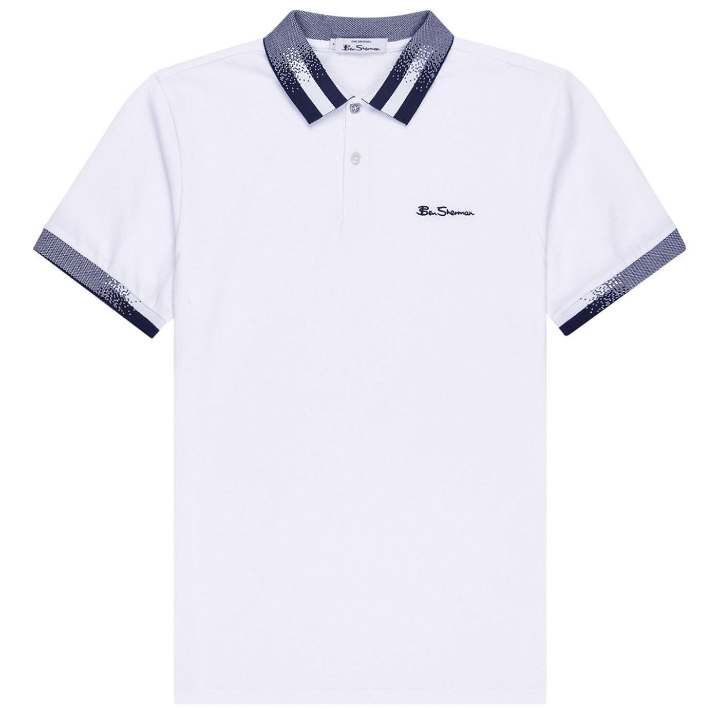 BEN SHERMAN Men's Retro 60s Halftone Collar Polo W