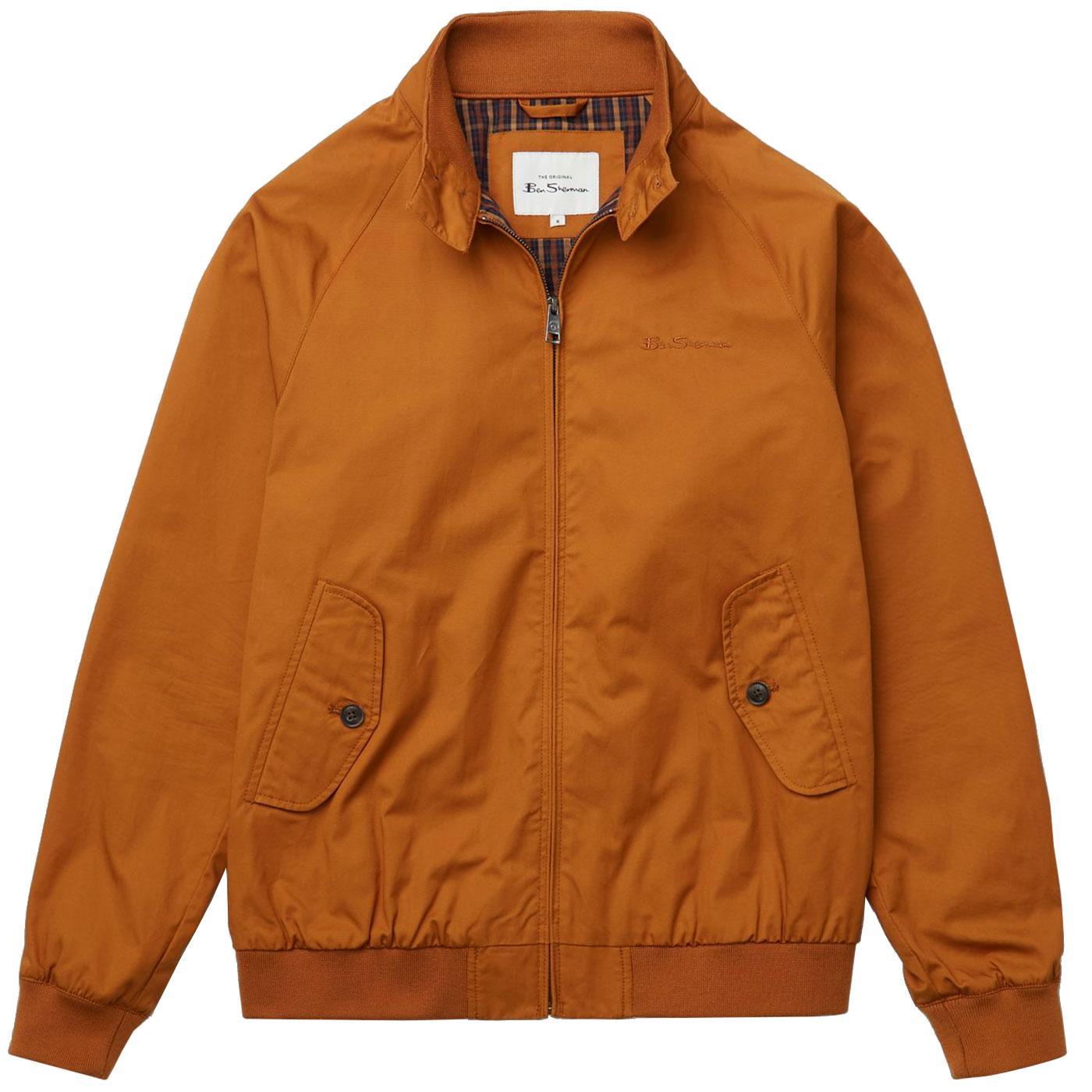 BEN SHERMAN Signature Harrington Jacket GOLD METAL