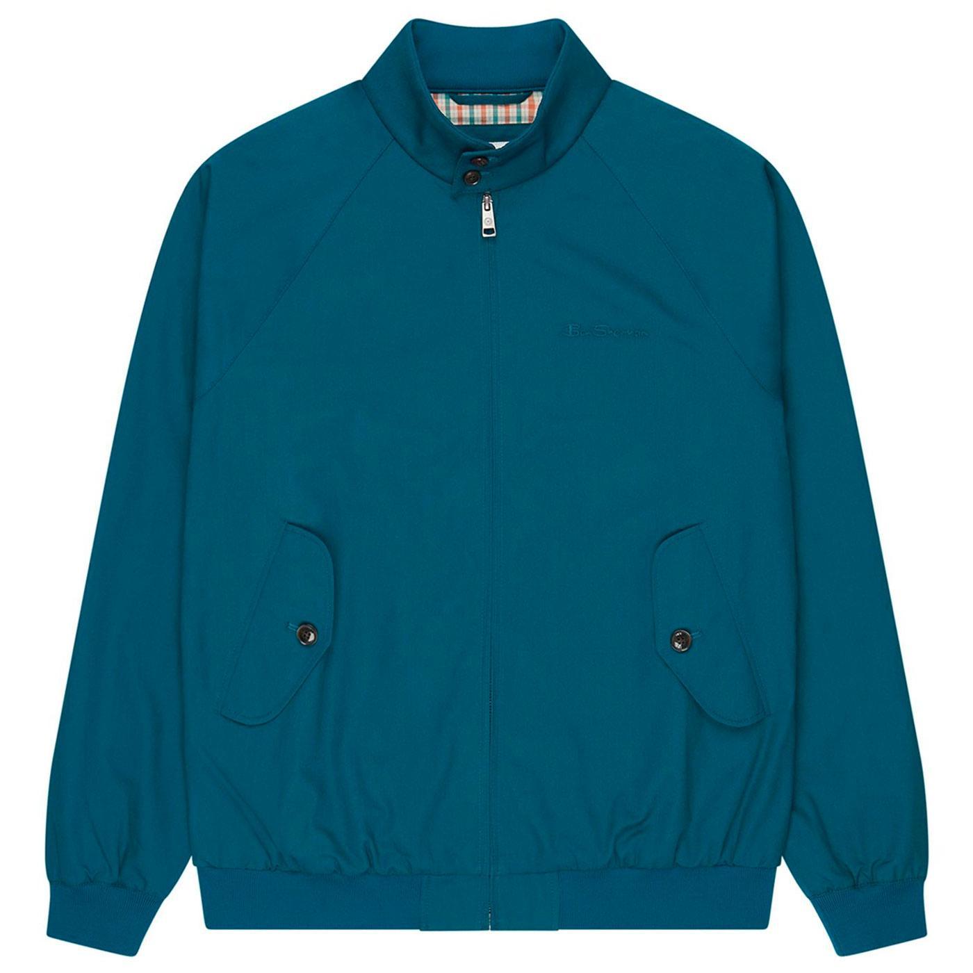 BEN SHERMAN Mod Signature Harrington Jacket (Sea)