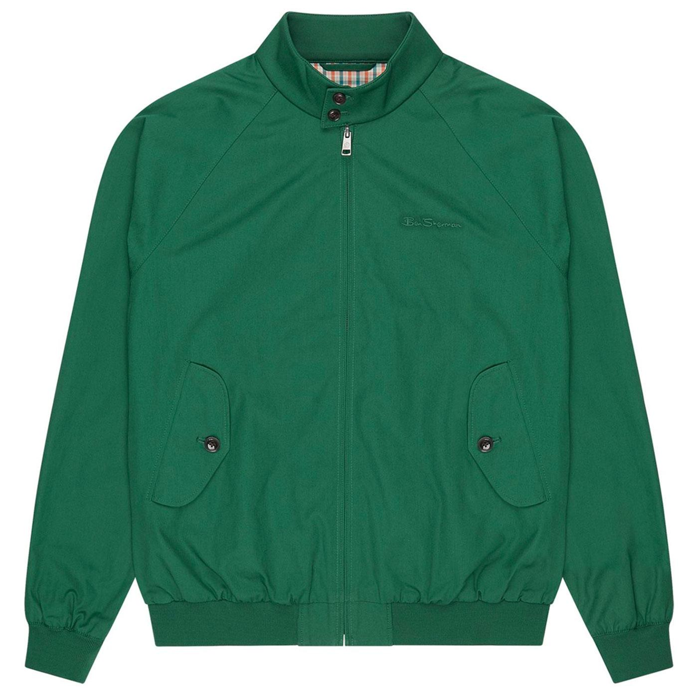 BEN SHERMAN Mod Signature Harrington Jacket -Green