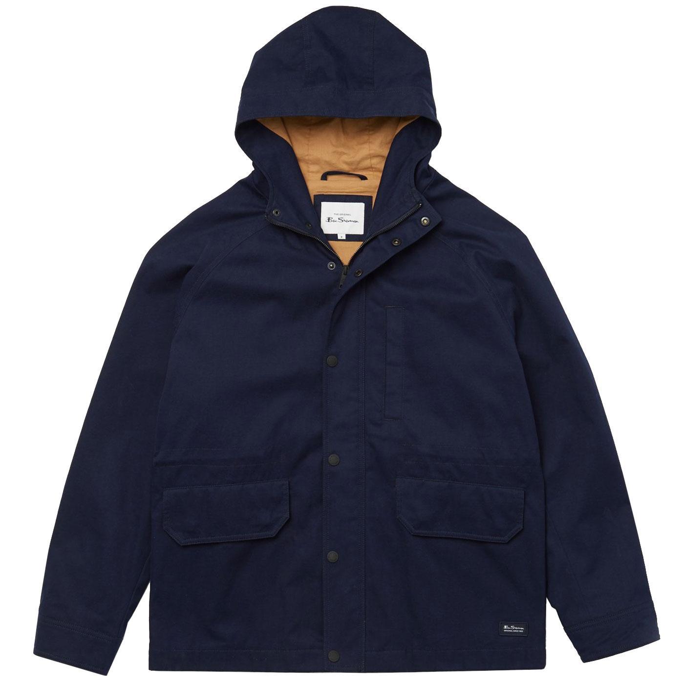 BEN SHERMAN Mens Retro Hooded Anorak Jacket