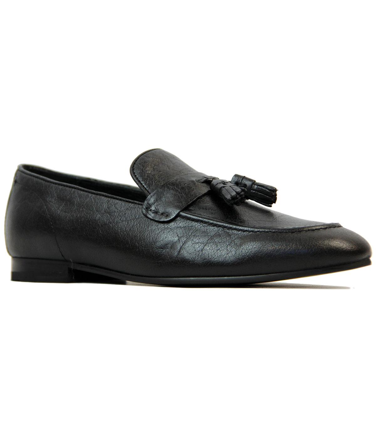 Meos BEN SHERMAN Retro Mod Slip On Tassel Loafers