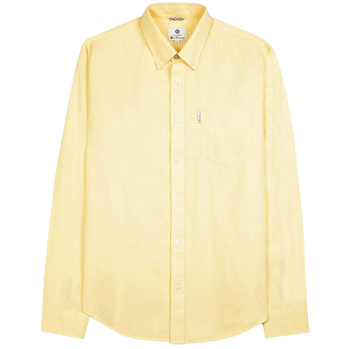 BEN SHERMAN Mod LS Signature Oxford Shirt (Yellow)