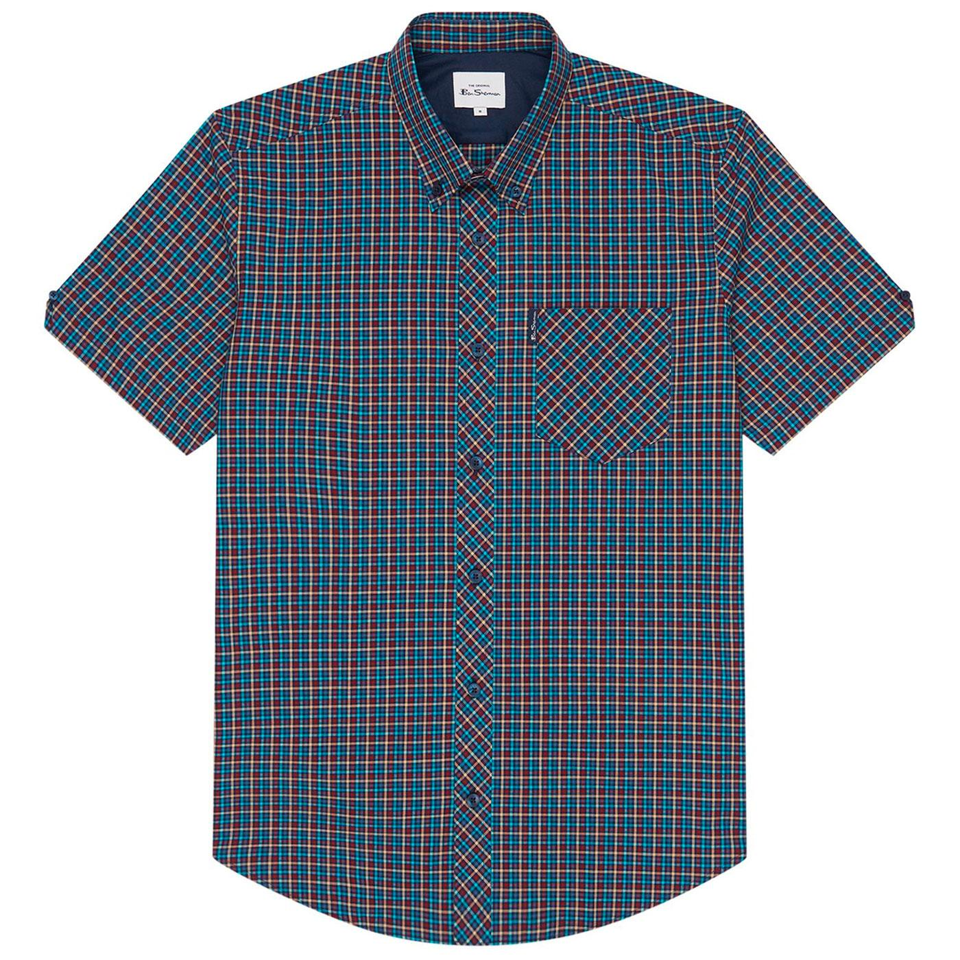 BEN SHERMAN Retro Mod Mini Gingham Check Shirt M