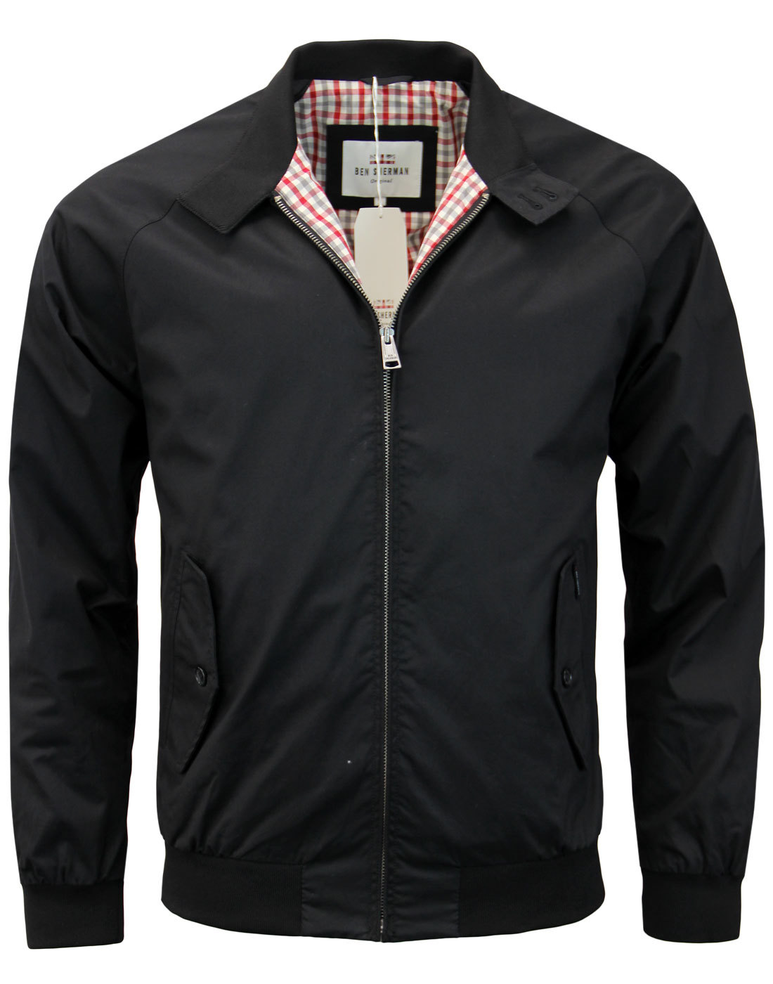 BEN SHERMAN 60s Mod Retro Harrington Jacket BLACK