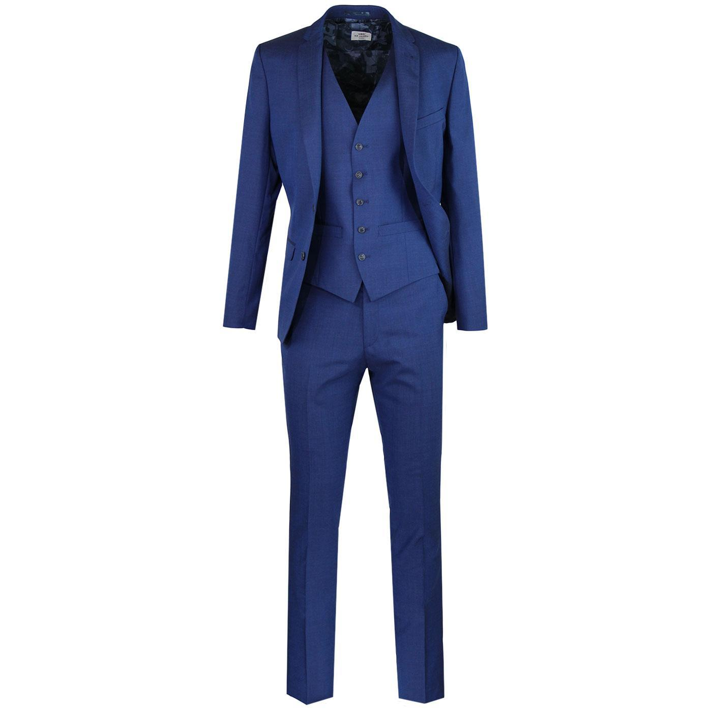 BEN SHERMAN Mod Tonic Scooter Suit in Bright Blue