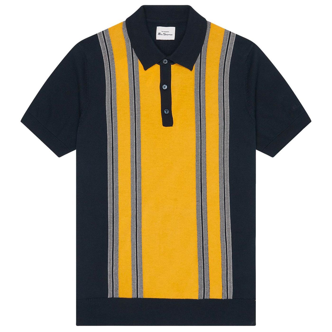 BEN SHERMAN Men's Knitted Mod Stripe Polo (DN)