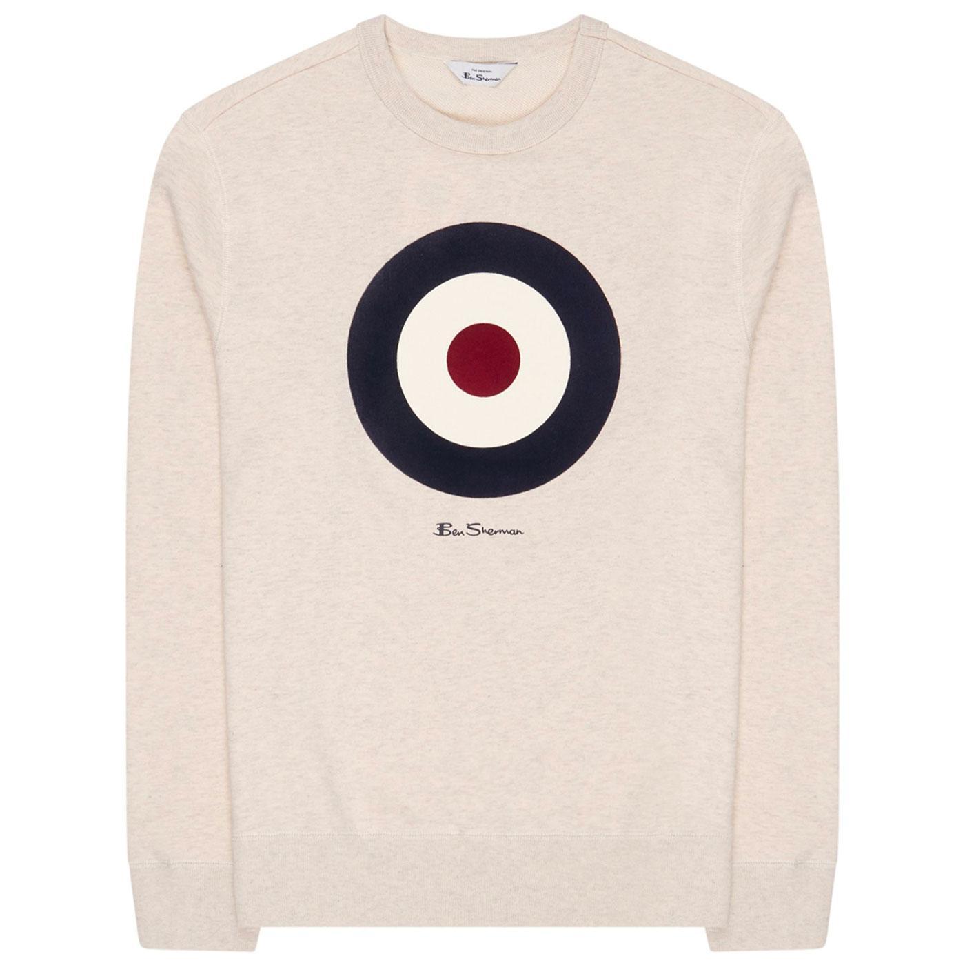 BEN SHERMAN Mod Target Signature Sweatshirt (Ecru)
